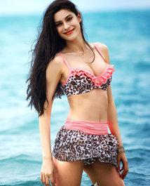 爱美丽泳衣热带潮豹比基尼三件套IM67ML1