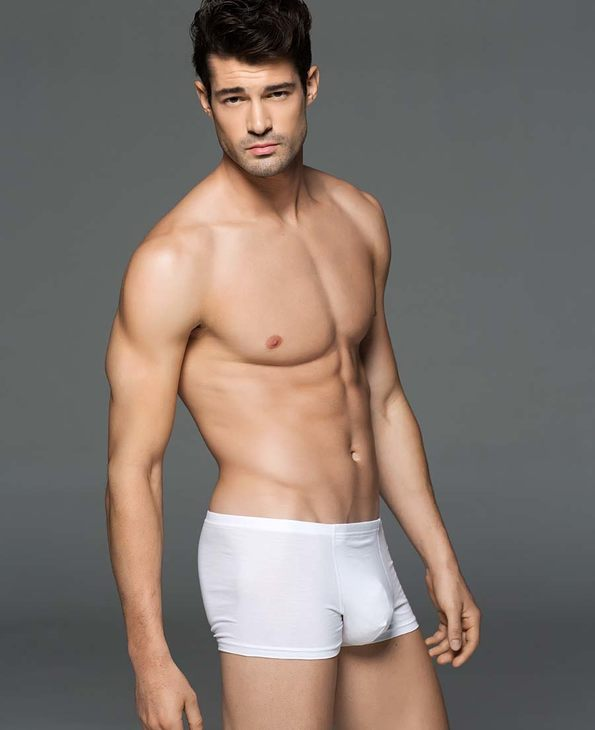 Aimer Men内裤|爱慕先生棉氨纶中腰平角内裤NS23S72