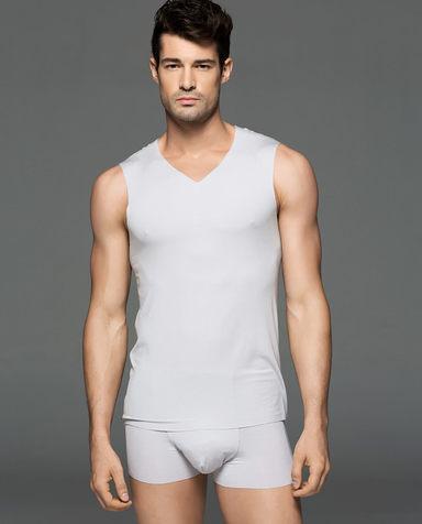 Aimer Men睡衣|爱慕先生莫代尔背心上衣NS11S31