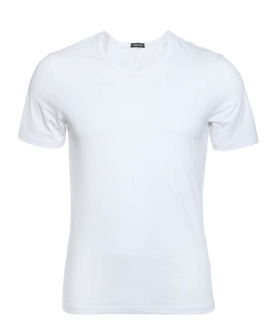 Aimer Men睡衣|爱慕先生15AW棉氨纶短袖V领上衣NS12S71