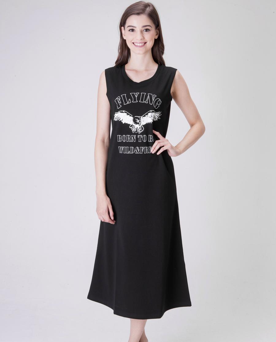 Shine Love睡衣|心爱flying无袖可外穿长裙SL85021