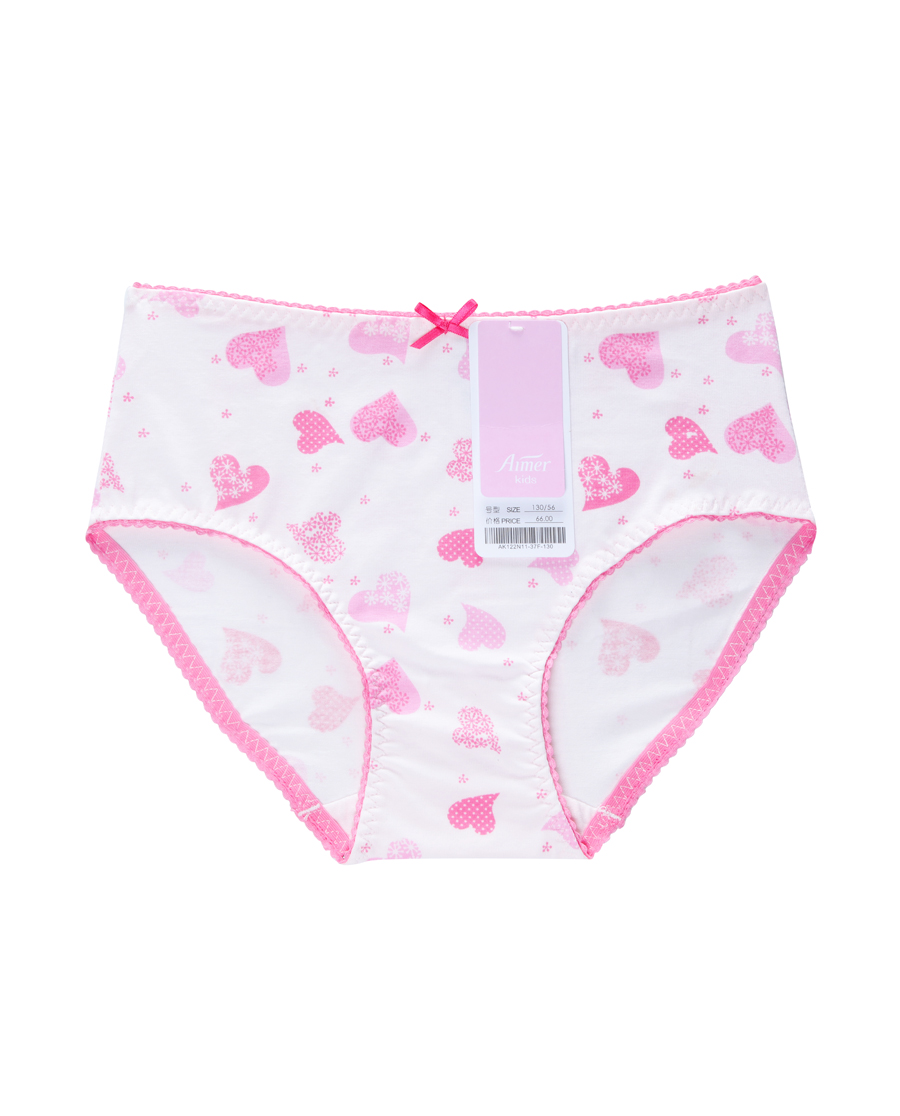 Aimer Kids内裤|爱慕儿童森林小伙伴中腰三角内裤AK122