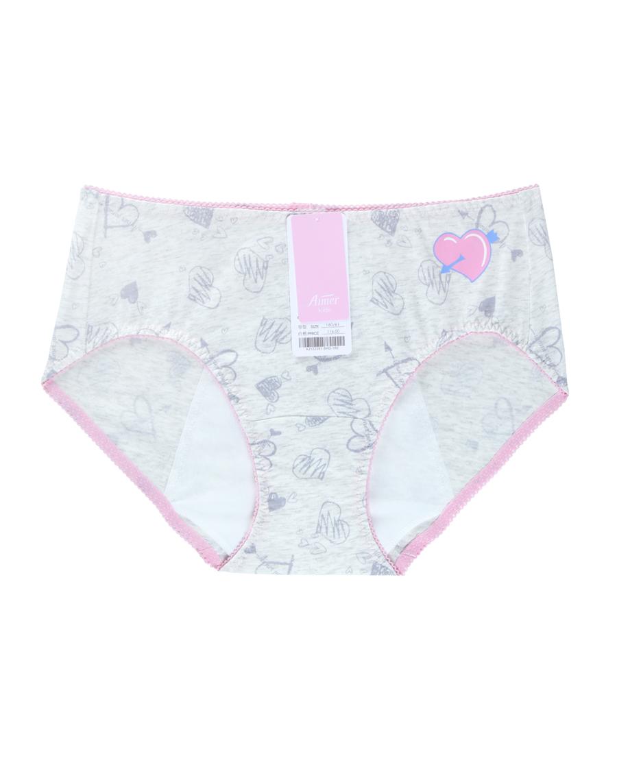 Aimer Kids内裤|爱慕儿童暖心物语高腰三角生理裤AJ122