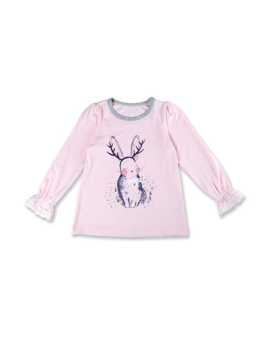 Aimer Kids睡衣|爱慕儿童梦绘森林圆领长袖上衣AK141N