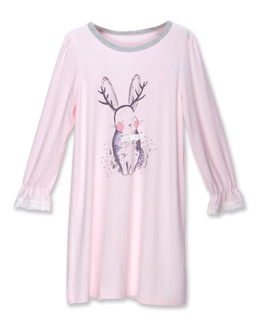 Aimer Kids睡衣|爱慕儿童梦绘森林圆领长袖睡裙AK144N