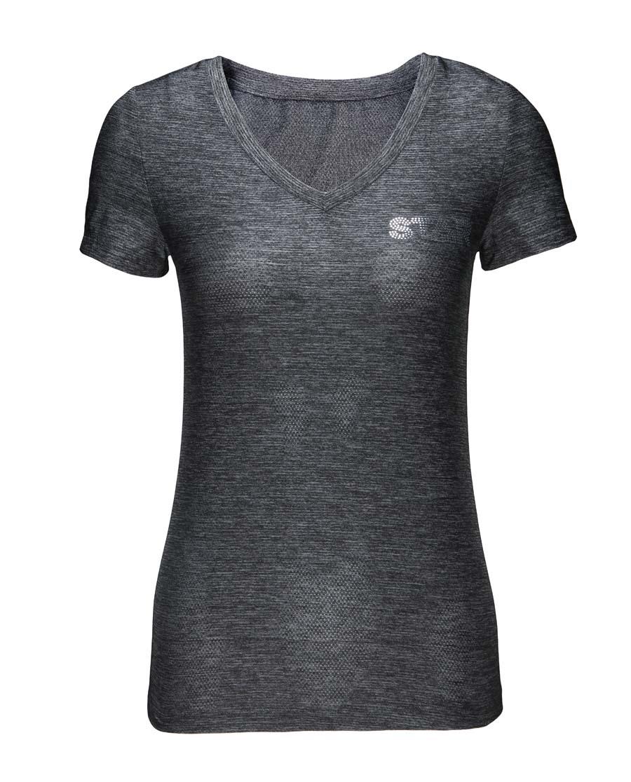 Aimer Sports运动装|爱慕运动炫速时光V领短袖上衣AS143841