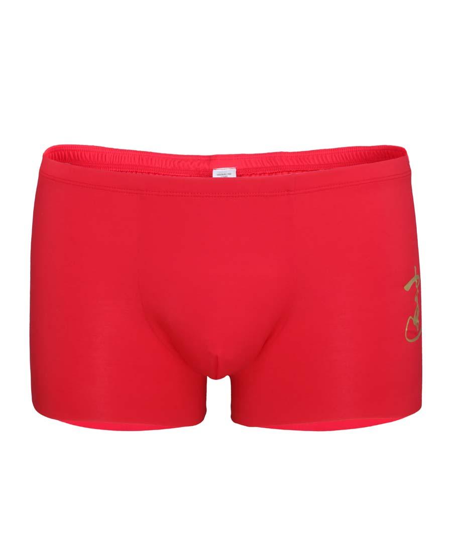 Aimer Men内裤 爱慕先生开运裤红色男士平角内裤NS23V91