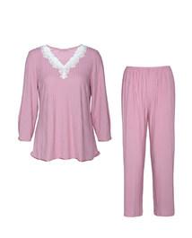 ag真人平台舒享花园长袖分身套装睡衣AM460351