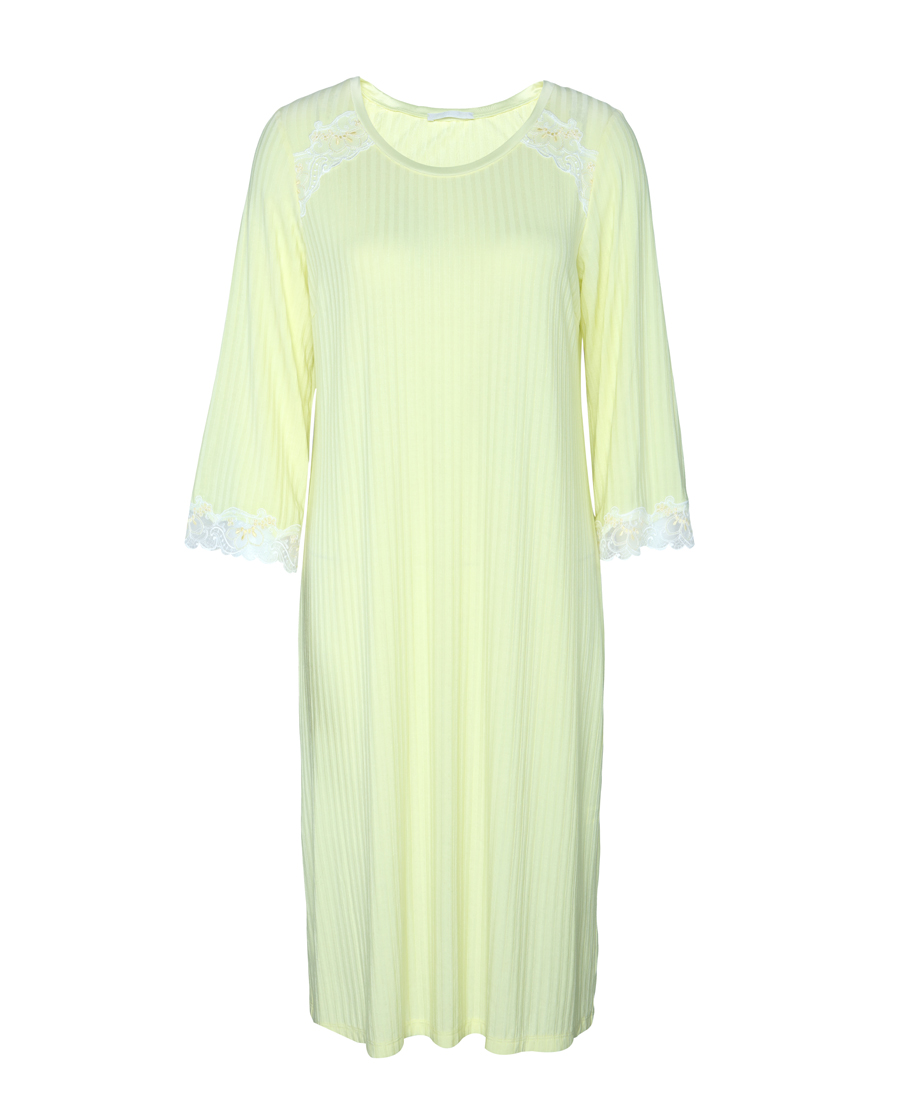 Aimer睡衣|爱慕舒享花园八分袖中长款睡裙AM440351