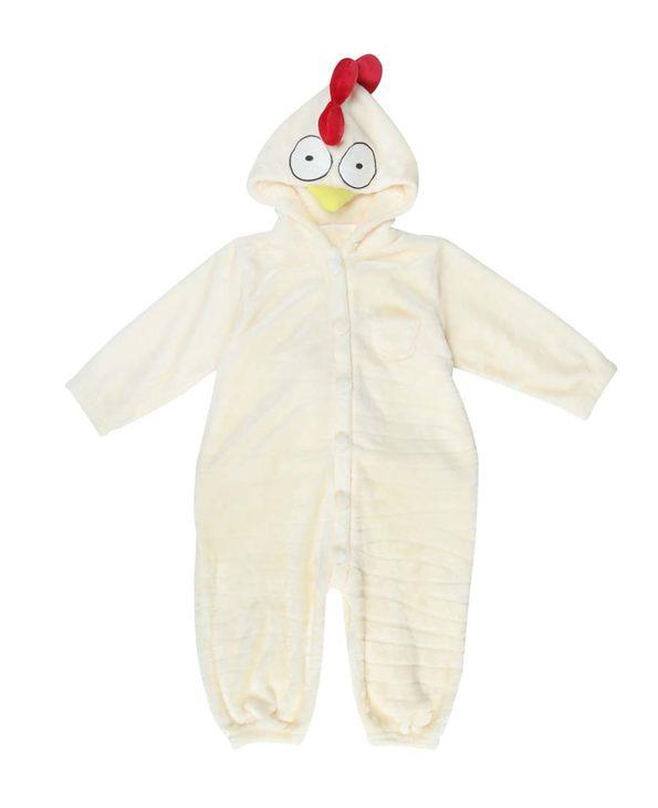 Aimer Kids睡衣 爱慕儿童小鸡快跑连体家居服AK447411