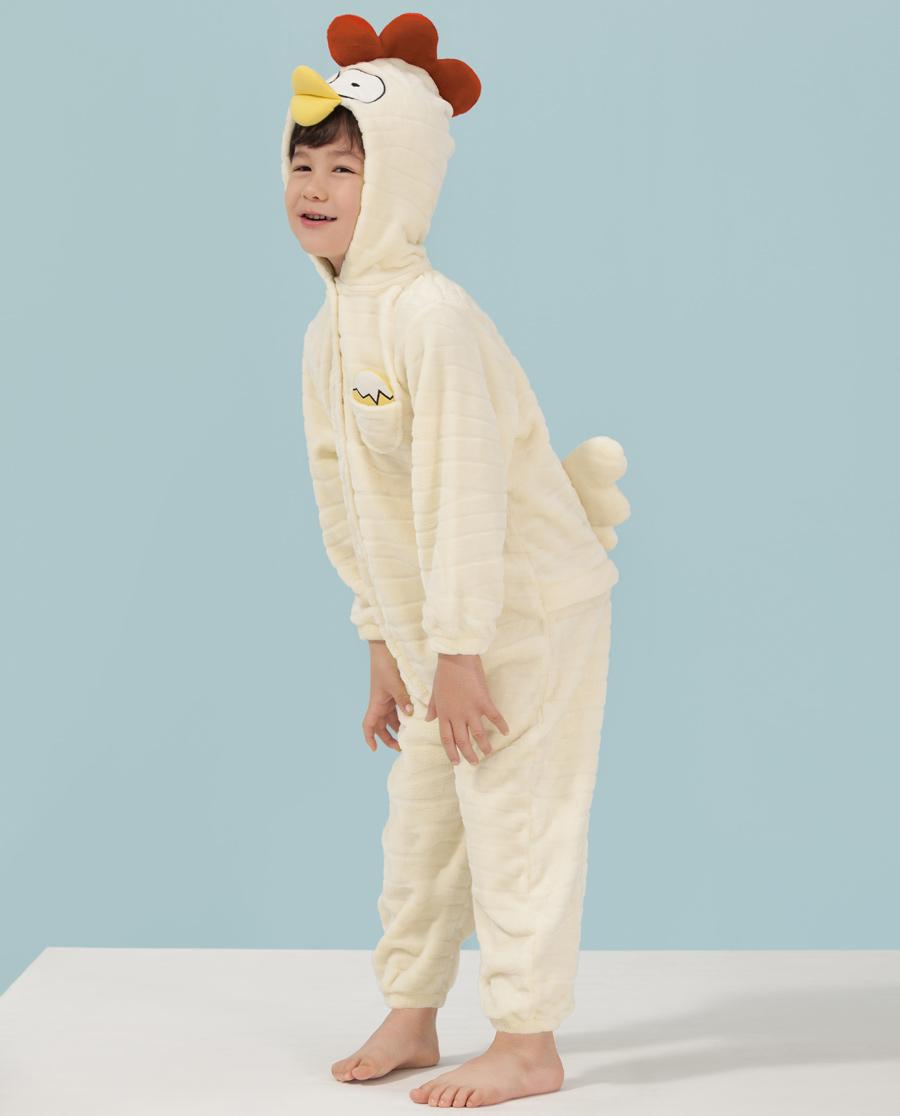 Aimer Kids睡衣|爱慕儿童小鸡快跑连体家居服AK347411