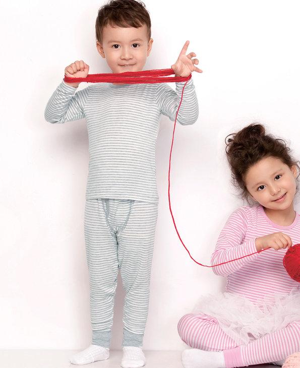爱慕儿童条纹-男孩保暖长裤AK273661