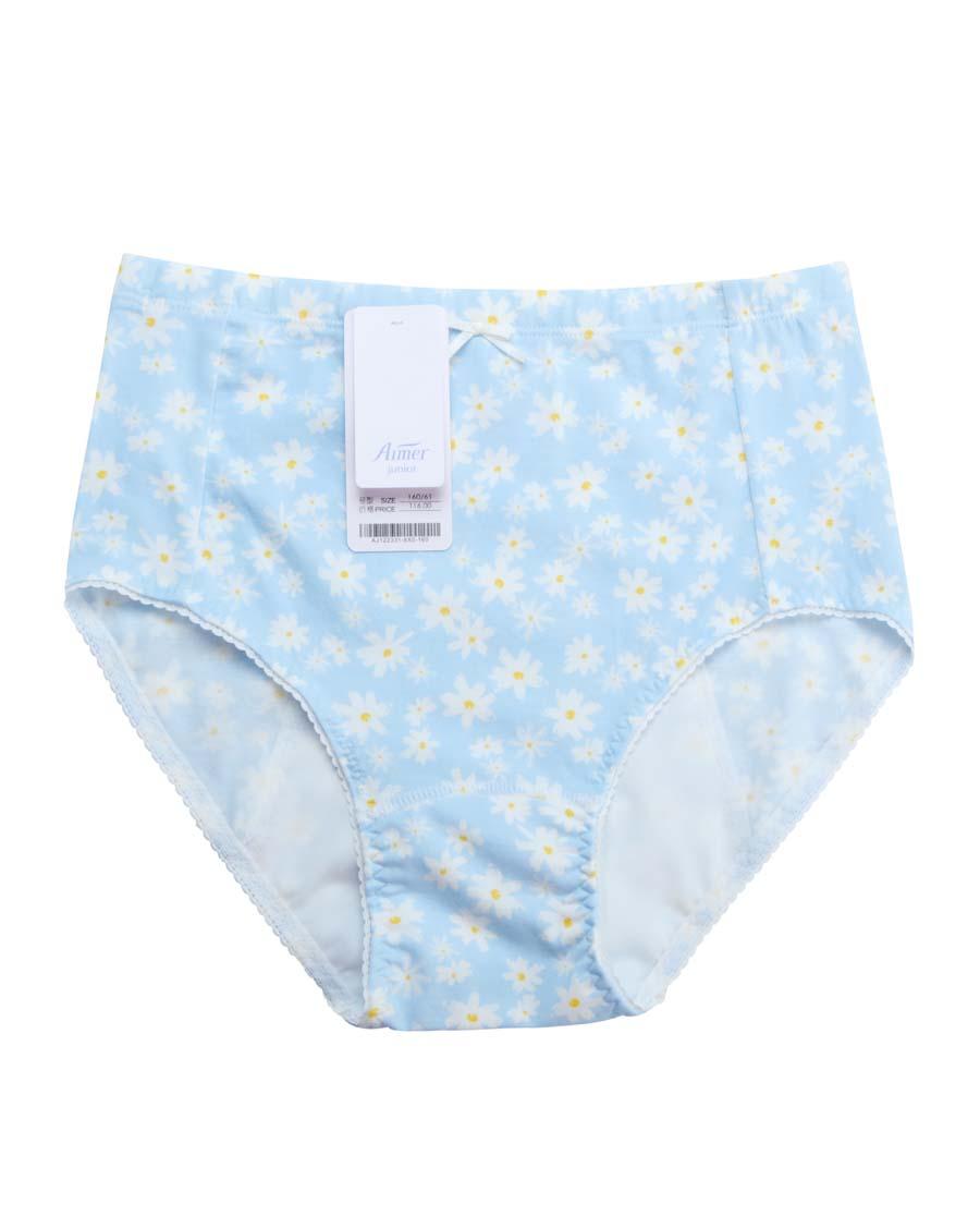 Aimer Kids内裤|爱慕儿童雏菊花开高腰三角生理内裤AJ12