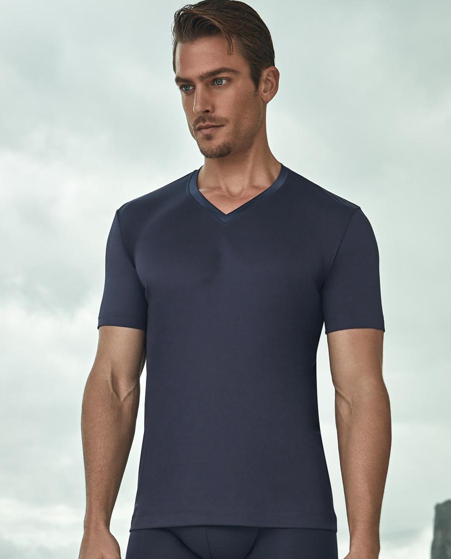 Aimer Men基礎內衣|愛慕先生縱享絲滑V領短袖上衣NS12A0