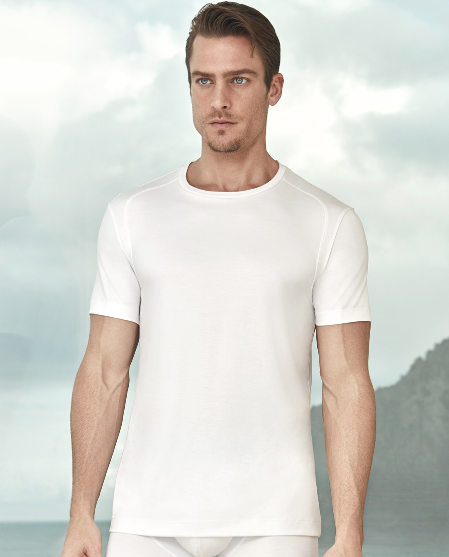 Aimer Men基礎內衣|愛慕先生縱享絲滑圓領短袖上衣NS12A0