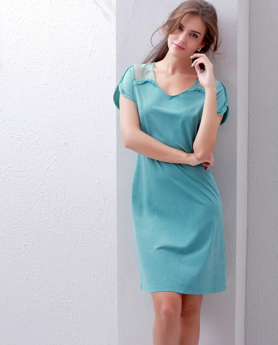 Aimer睡衣|爱慕漫舞蕾丝中长款睡裙AM440781