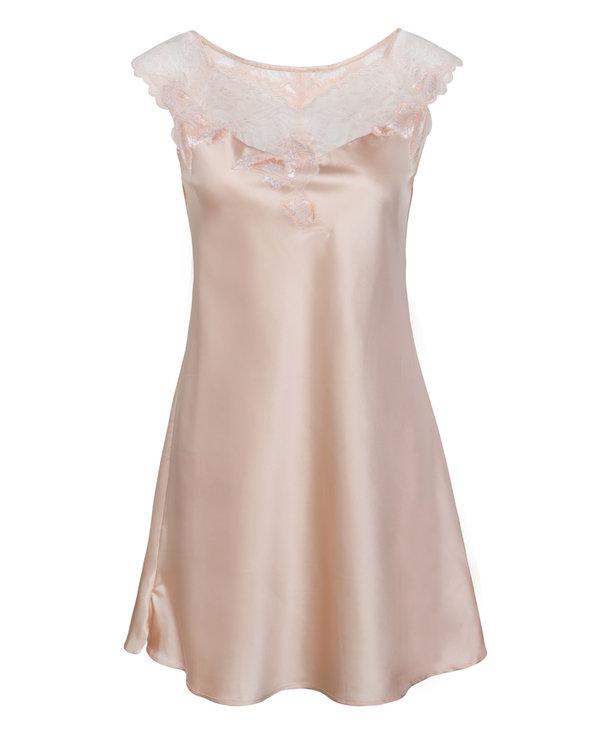 Aimer睡衣|爱慕蝶羽短款包肩睡裙AG440081