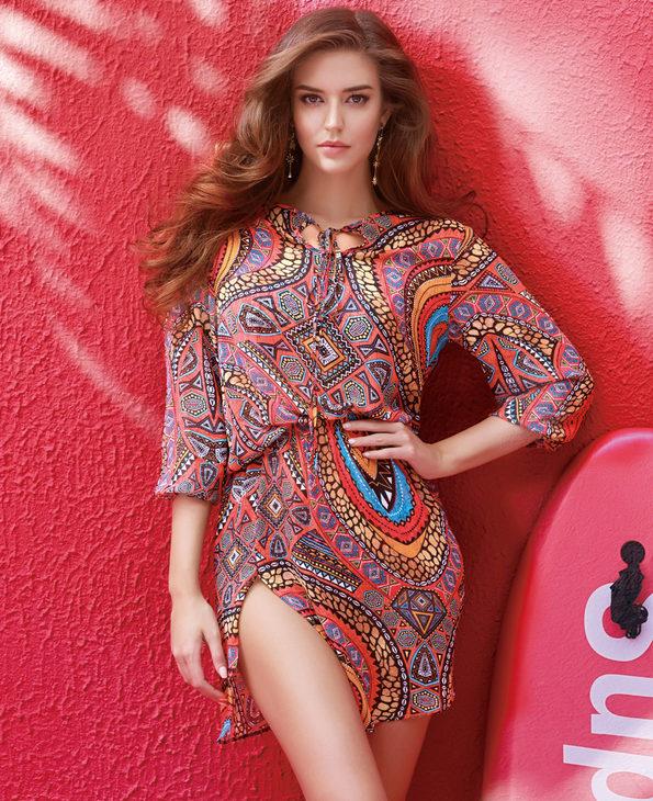 爱慕非洲印象沙滩衣AM600691