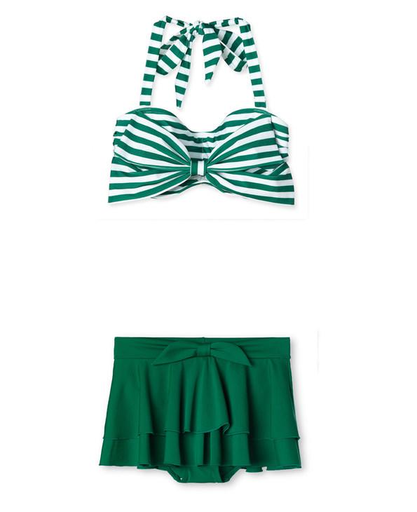 心爱热带风情分身泳衣