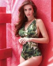 爱慕橄榄风情连体泳衣AM680711