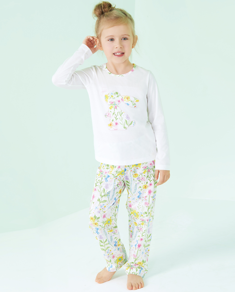 Aimer Kids睡衣|爱慕儿童花园漫步家居长裤AK142Q91