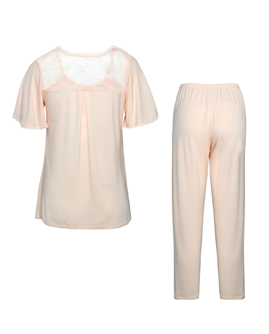 Aimer睡衣 爱慕月光夫人短袖套件家居服AM461101