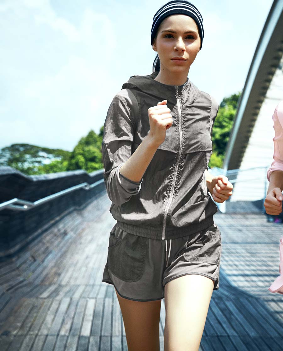 Aimer Sports运动装|爱慕运动COOL SPORTS II运动短裤(两件套)AS151821
