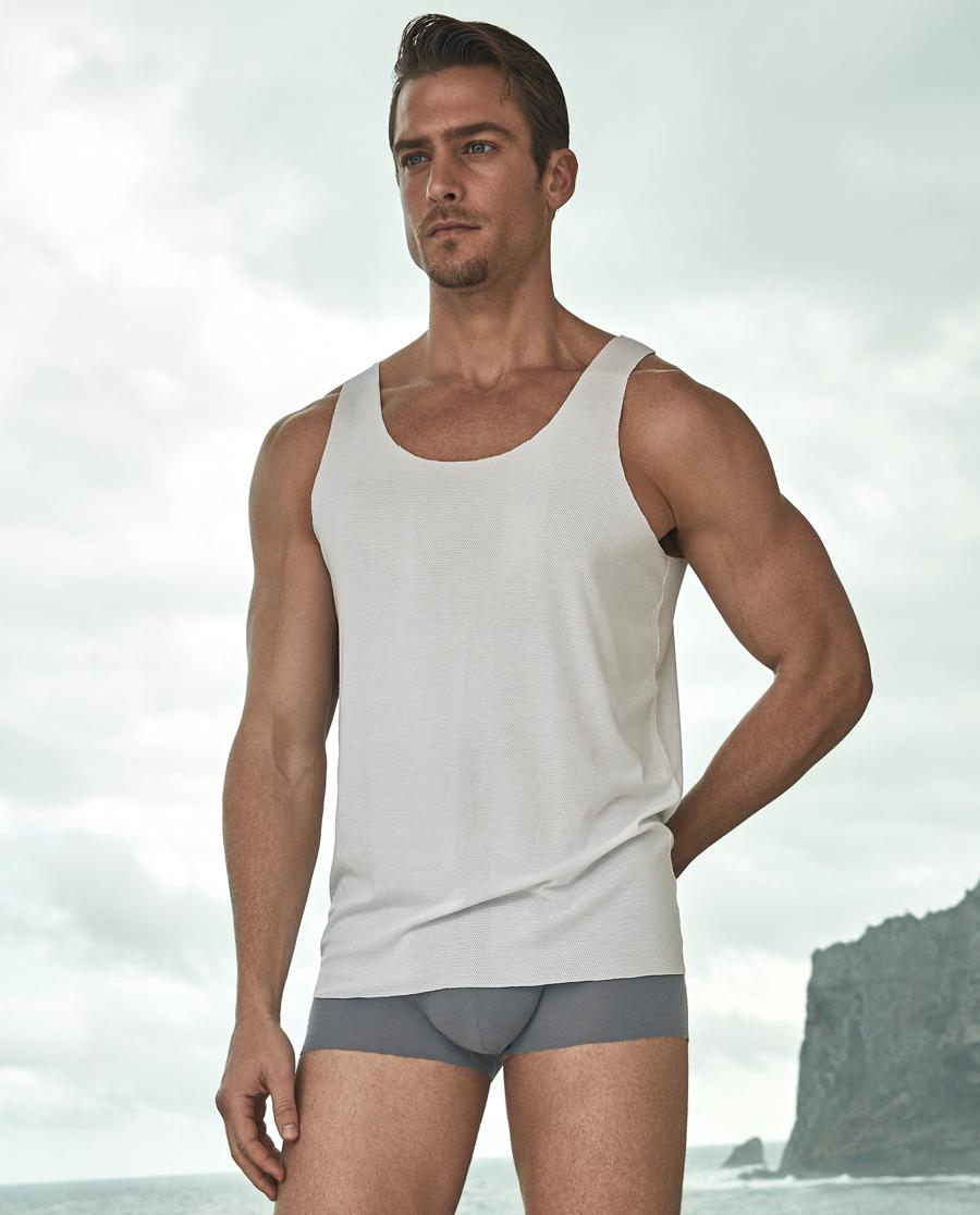 Aimer Men内裤|ag真人平台先生网眼中腰平角裤NS23A021