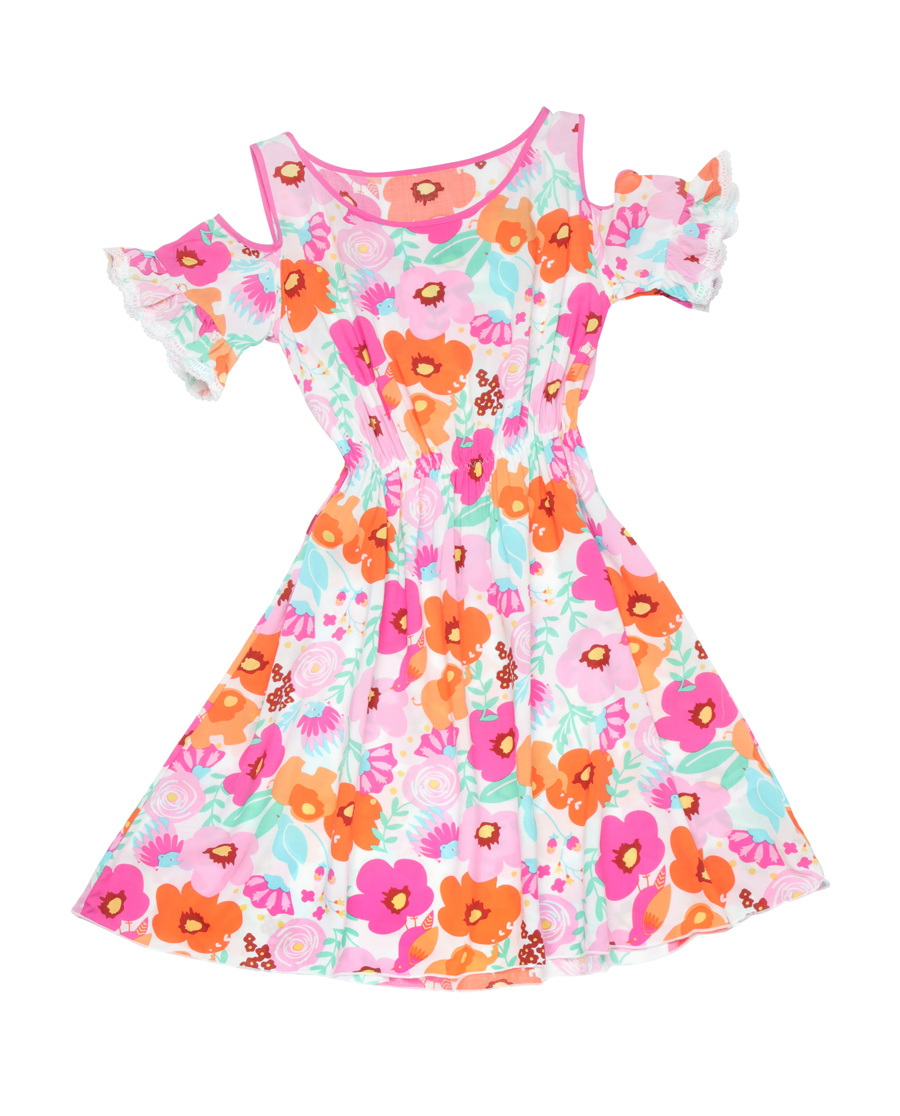 Aimer Kids泳衣|爱慕儿童丛林花园中长款沙滩裙AK144R