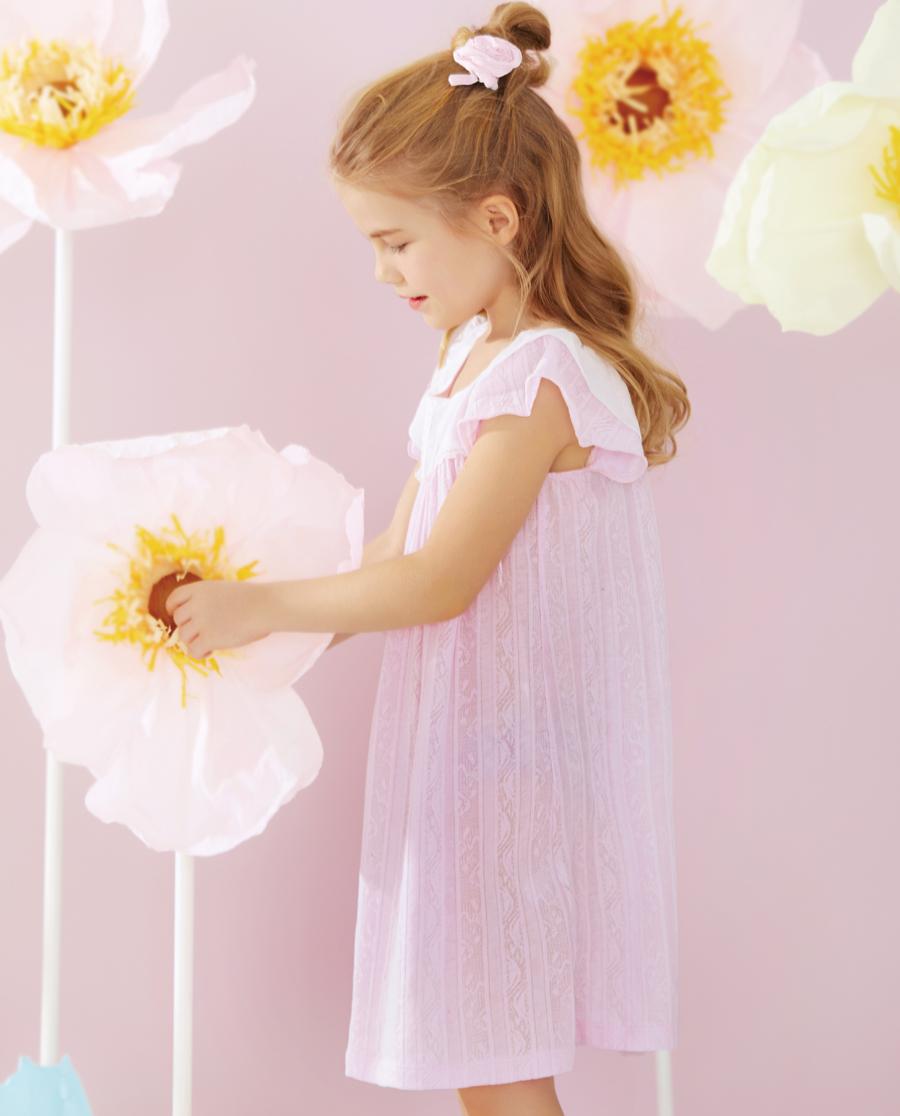 Aimer Kids睡衣|爱慕儿童春爱花语家居中款睡裙AK144R11
