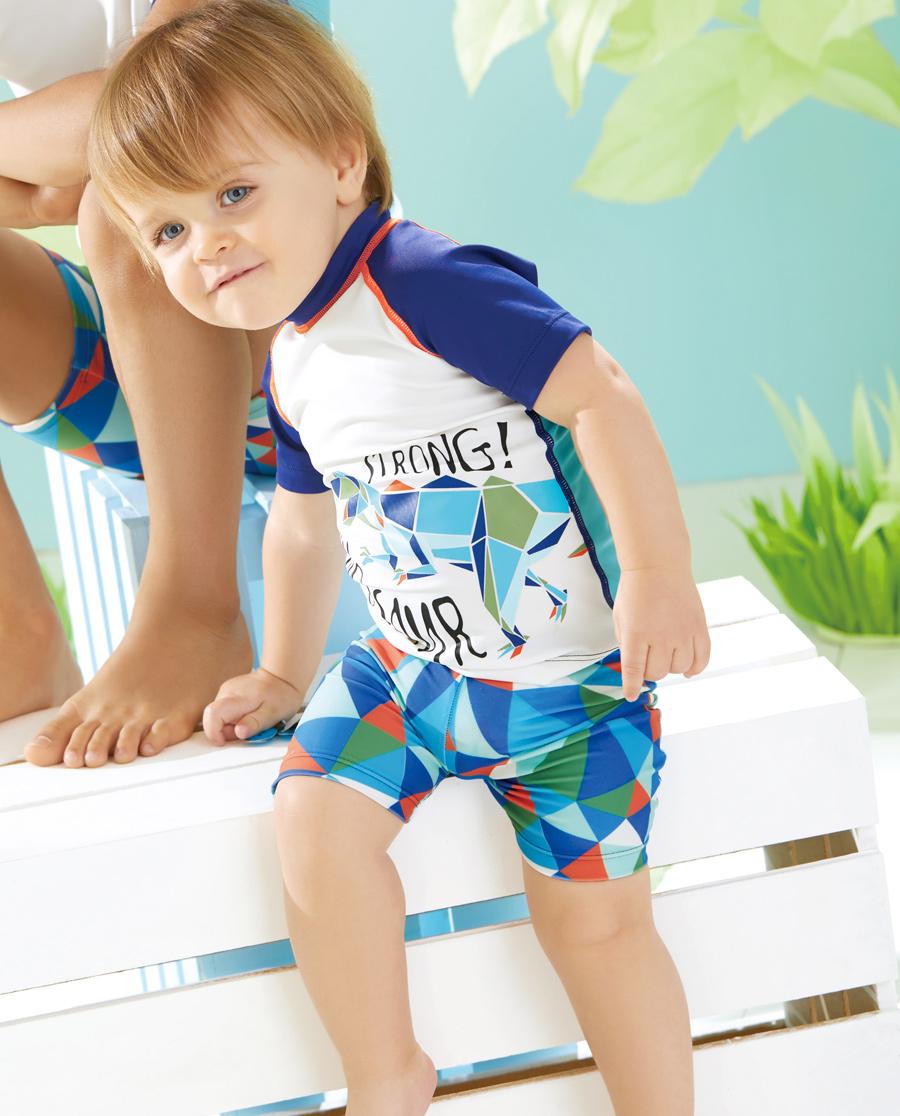 Aimer Baby泳衣|爱慕婴儿丛林探险平角泳裤AB267R92