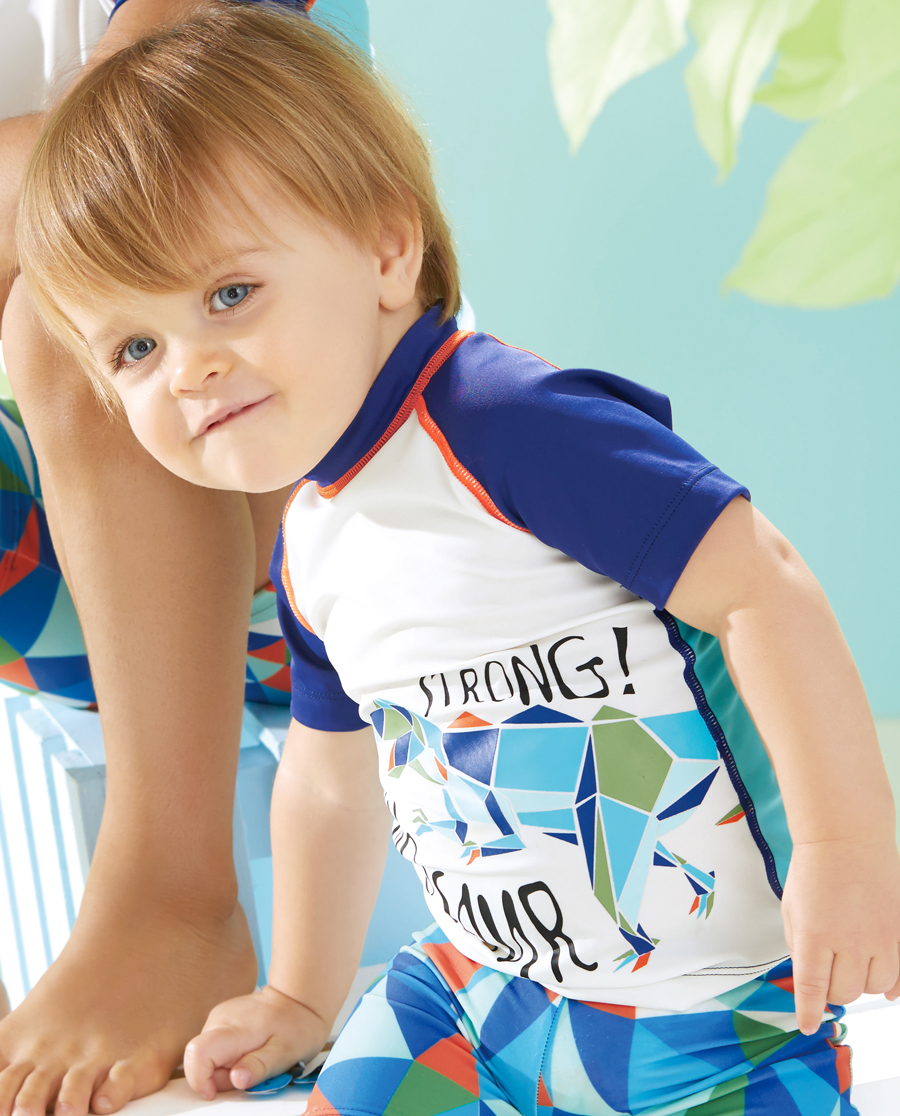 Aimer Baby泳衣|爱慕婴儿丛林探险短袖泳衣AB267R91