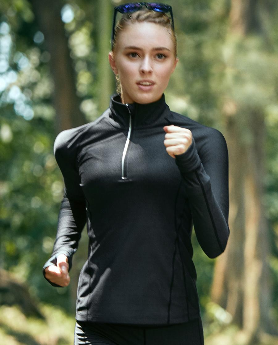 Aimer Sports运动装|爱慕运动太空漫步Ⅱ长袖运动上衣AS172891