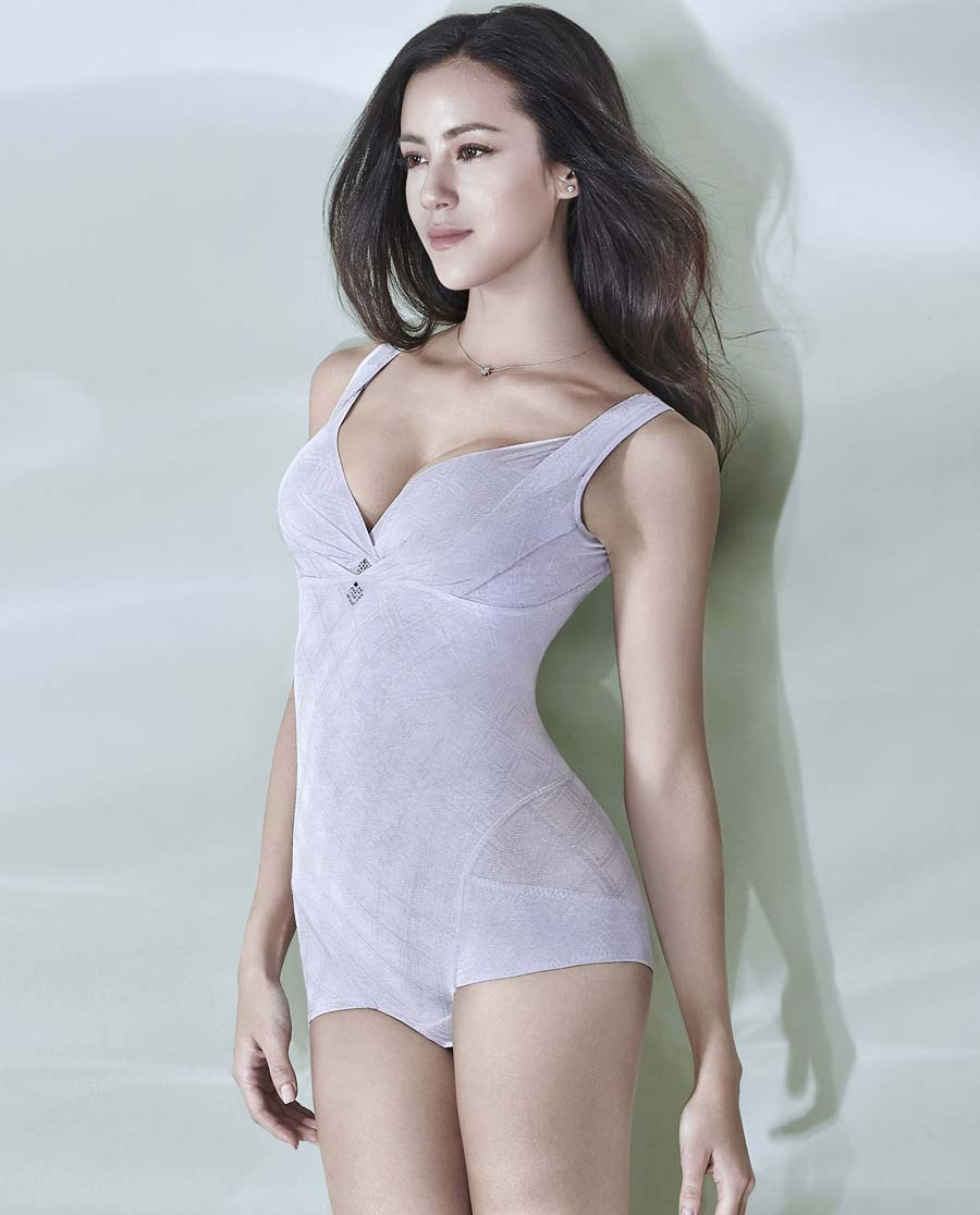 MODELAB美体|爱慕慕澜塑爽无痕二轻型长款连体塑身衣AD36772