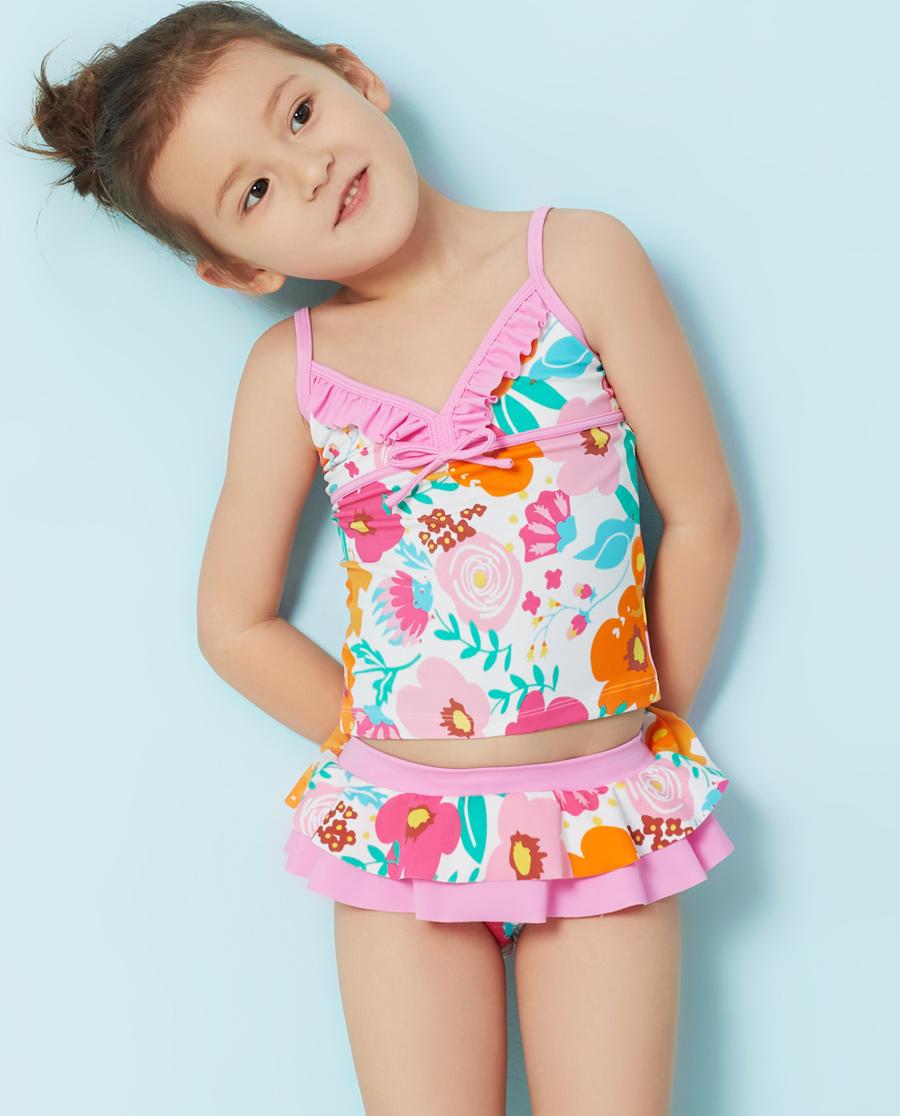 Aimer Kids泳衣|爱慕儿童丛林花园分体泳衣AK167R92