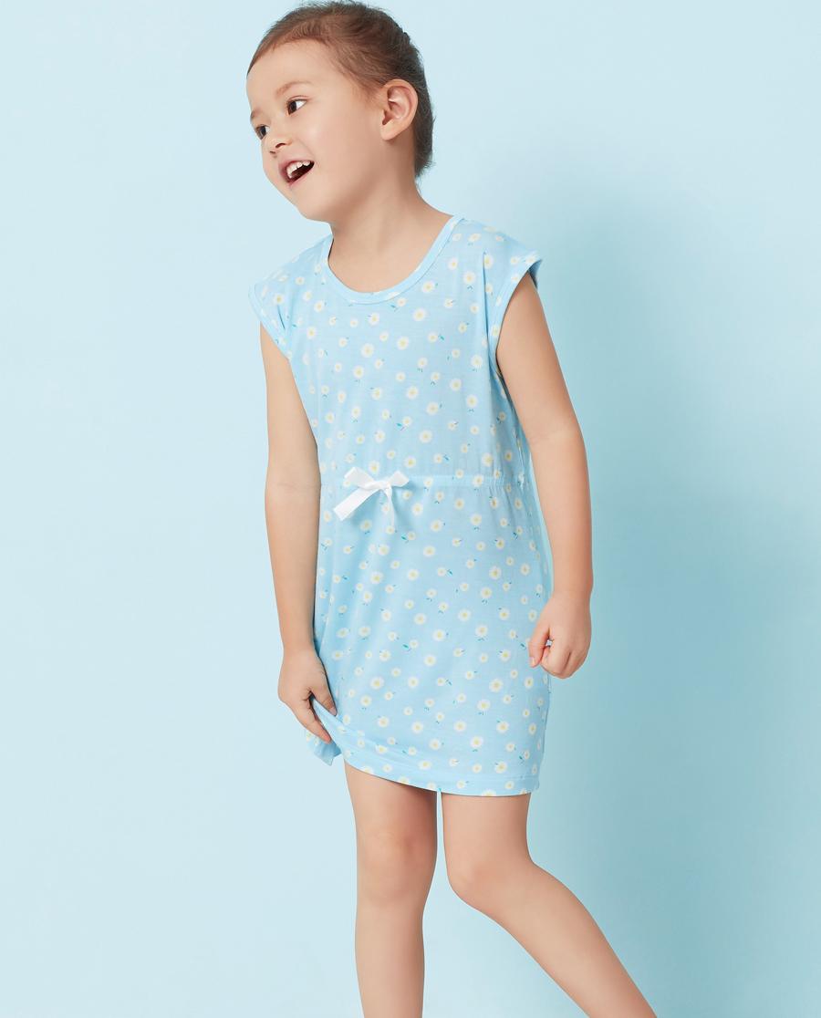 Aimer Kids睡衣|爱慕儿童萌兔花园中长款睡裙AK144Q61