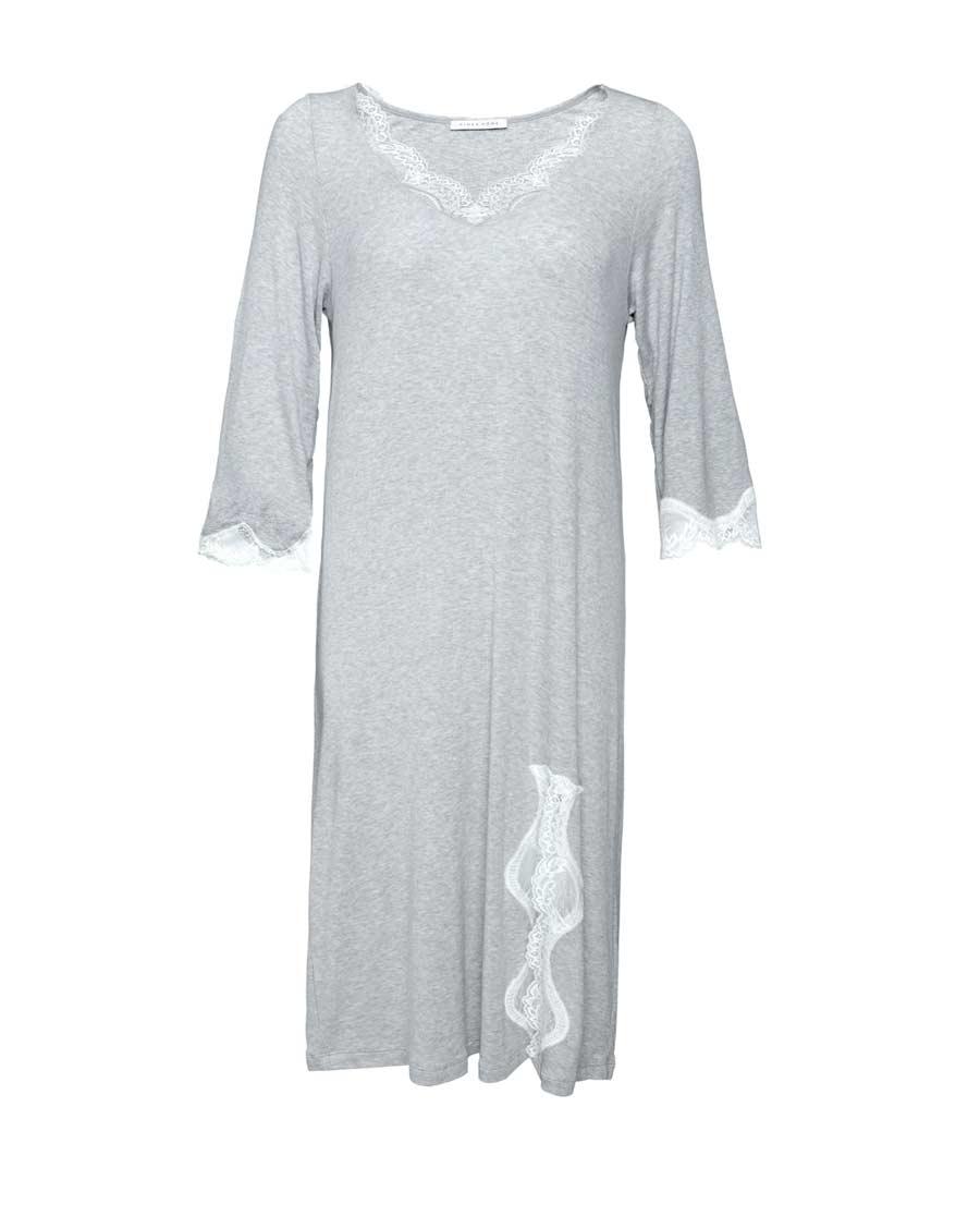 Aimer Home睡衣|爱慕家品柔语七分袖中长款家居睡裙AH21G62