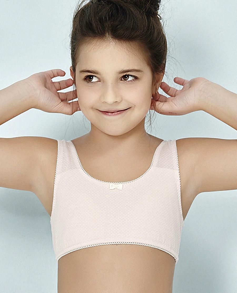 Aimer Kids文胸 爱慕儿童蜜糖点点一阶段背心式无托文胸AJ115211