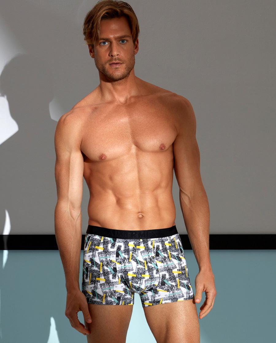 Aimer Men内裤|爱慕先生印花莫代尔中腰平角内裤NS23A361