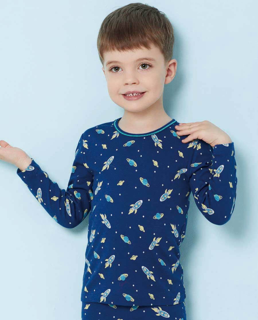 Aimer Kids睡衣|爱慕儿童太空幻想长袖上衣AK272T41