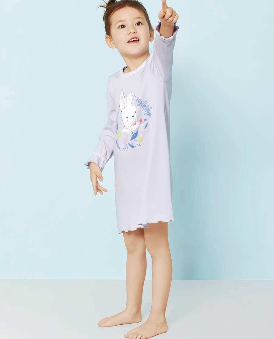 Aimer Kids睡衣|爱慕儿童秋日花园中款家居睡裙AK144S81