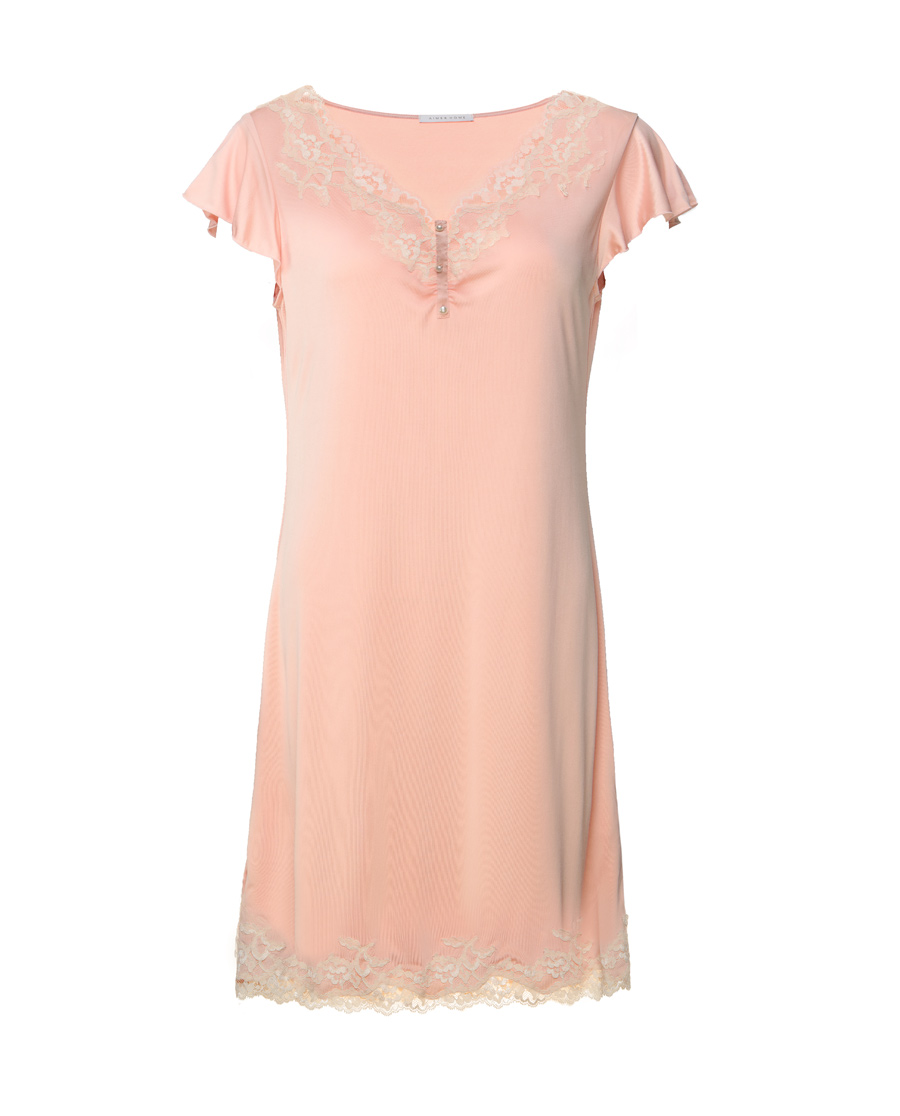 Aimer Home睡衣|爱慕家品奢享丝柔中款家居睡裙AH21G52