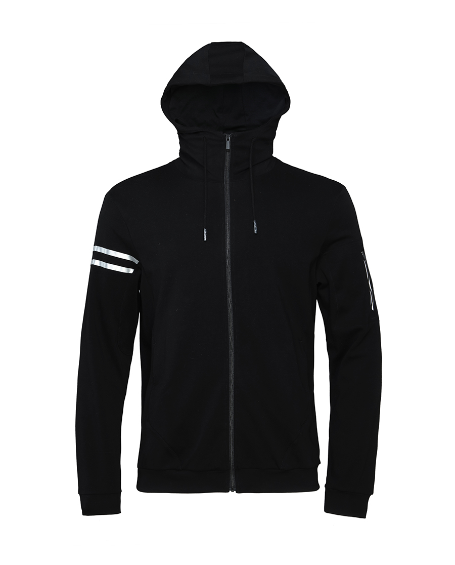 Aimer Men休闲外穿|爱慕先生酷黑运动外穿长袖帽衫NS81A492
