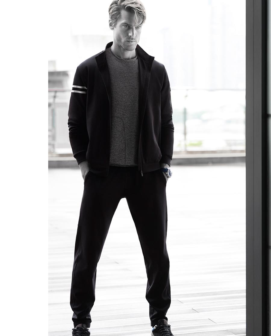 Aimer Men睡衣|爱慕先生酷黑运动收口长裤NS82A491