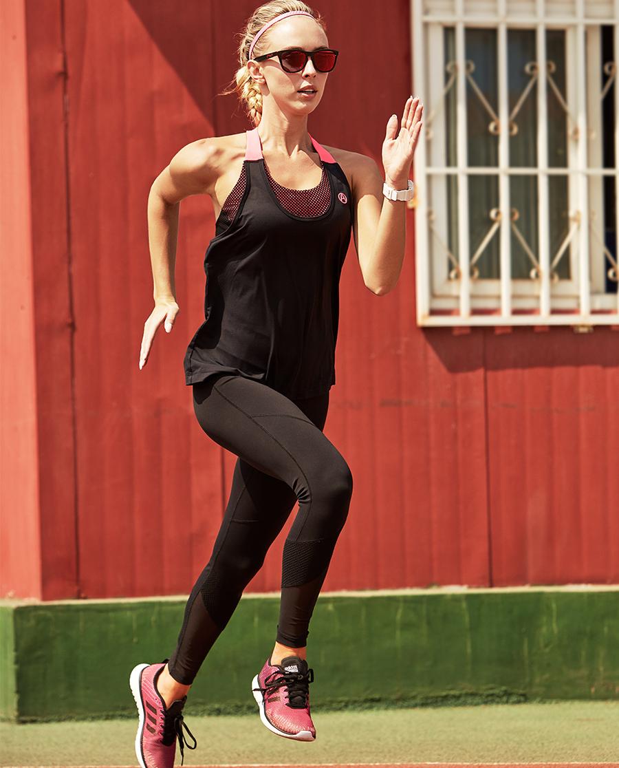 Aimer Sports运动装|爱慕运动活力网眼运动九分裤AS153A81
