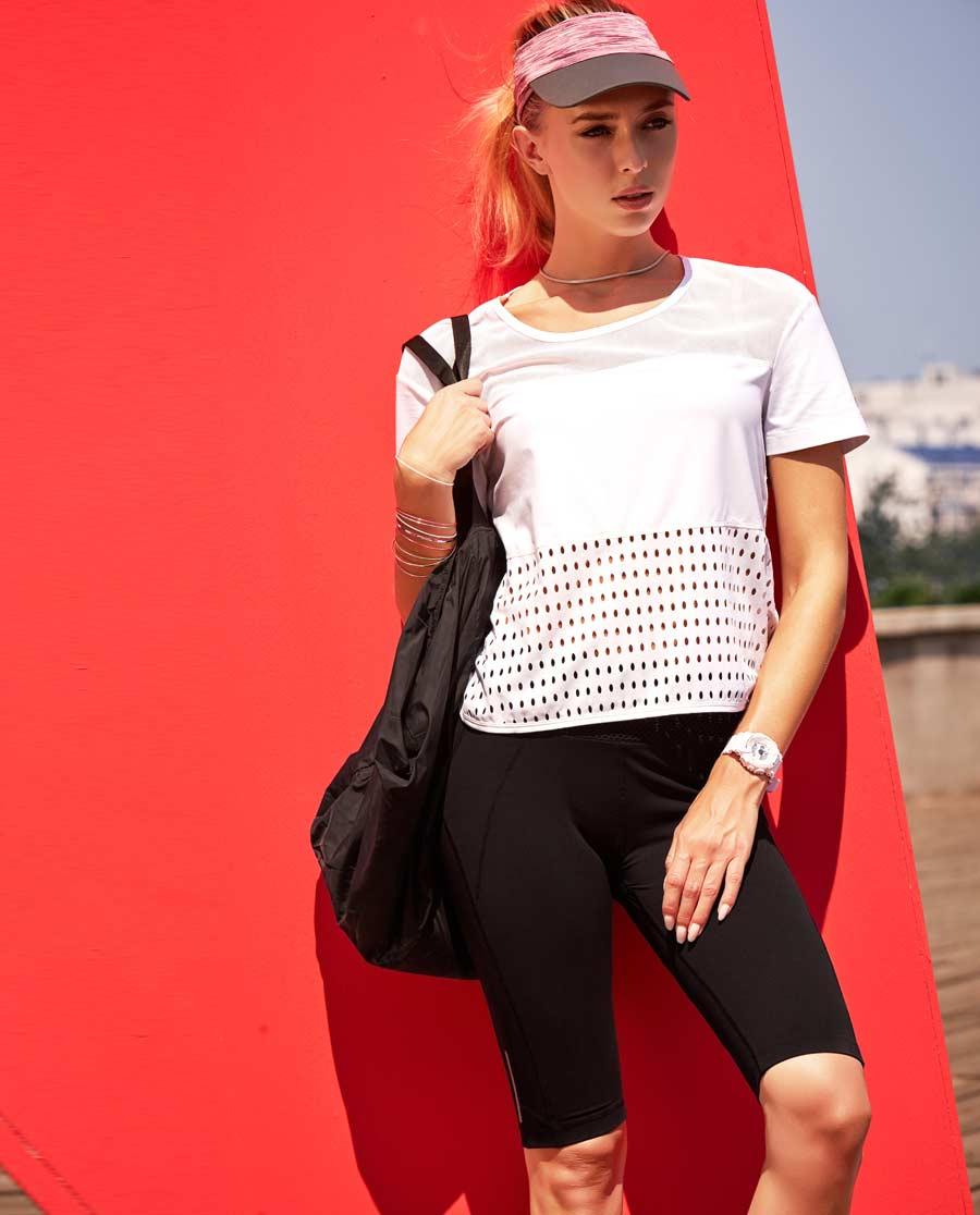 Aimer Sports运动装 爱慕运动活力网眼运动五分裤AS152A81