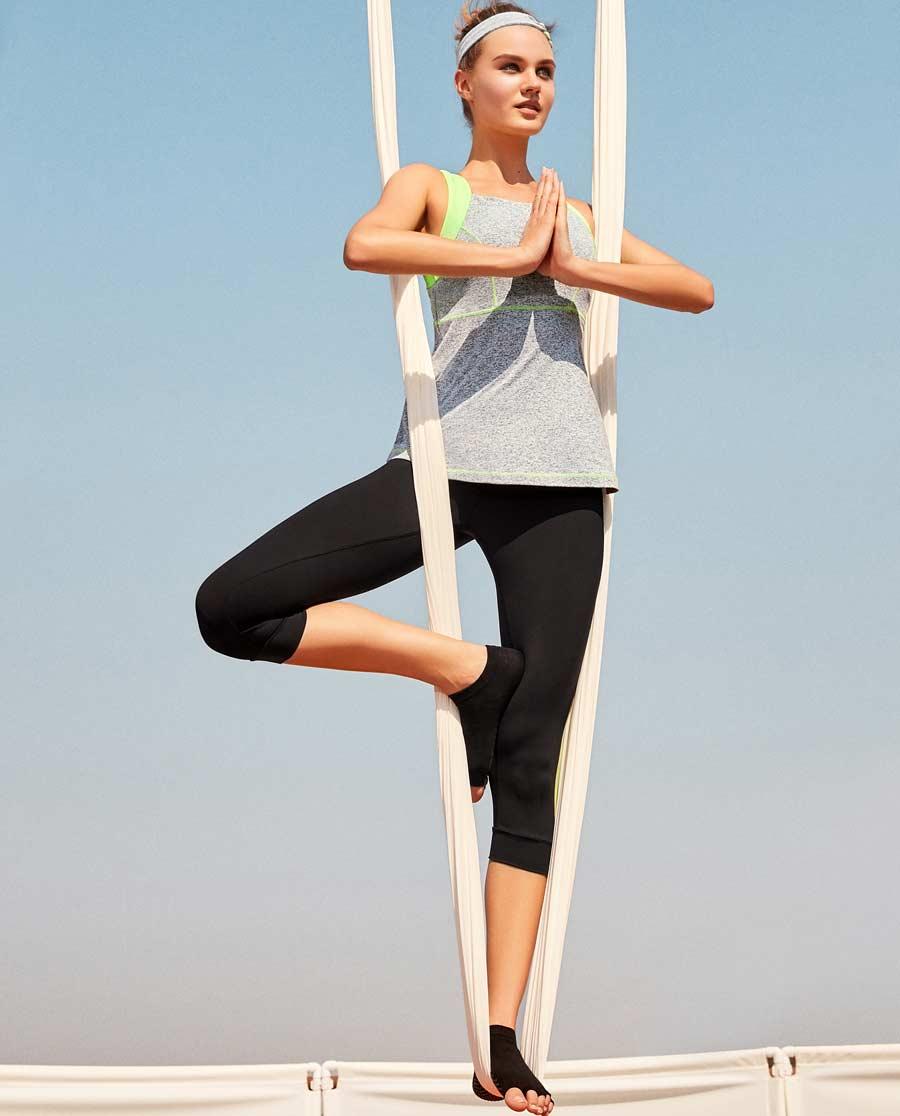 Aimer Sports运动装|爱慕运动YOGA LADY运动七分裤AS152A71