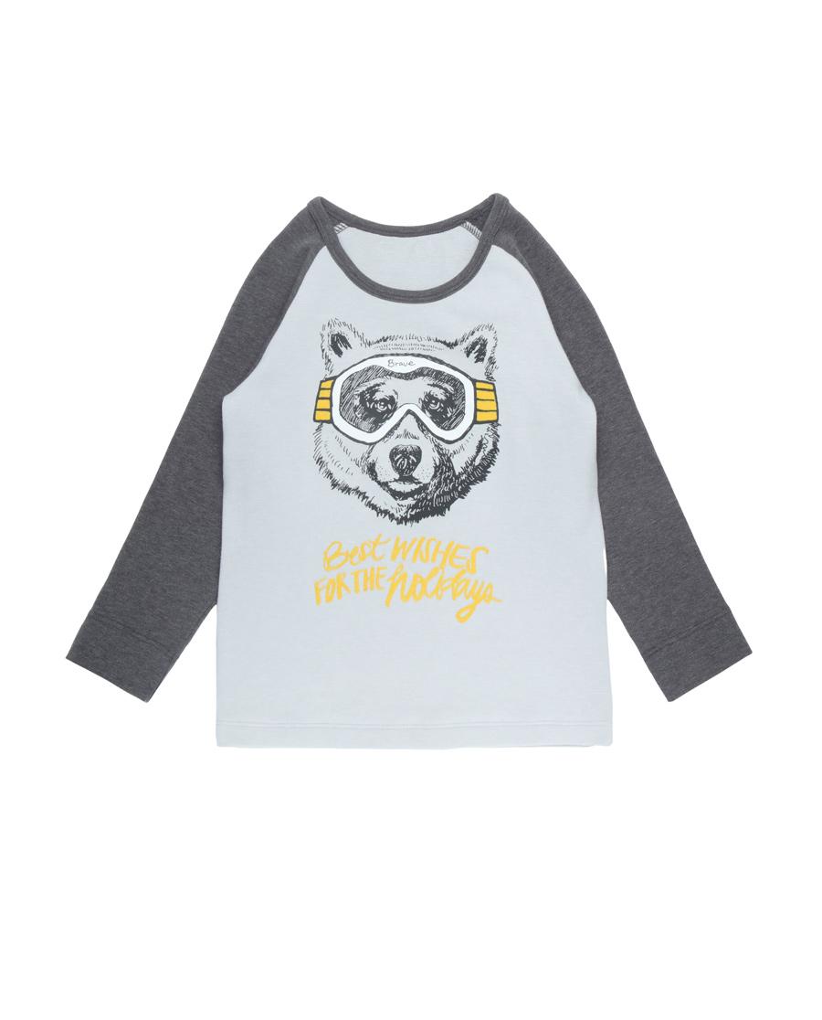 Aimer Baby保暖 爱慕婴儿酷玩熊双层长袖上衣AB272T82