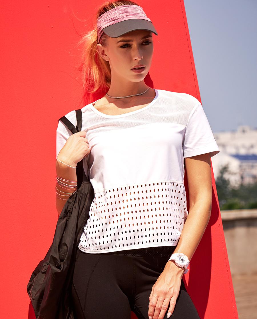Aimer Sports运动装|爱慕运动活力网眼短袖T恤AS143A81