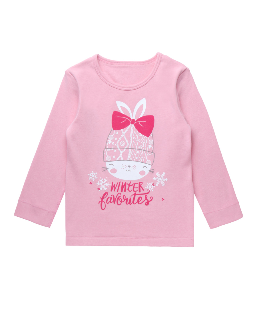 Aimer Baby保暖|爱慕婴儿爱咪兔双层长袖上衣AB172T82